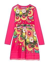 Desigual Girls' Toddler Girls' Dress Asmara, Fuchsia Rose, 13/14