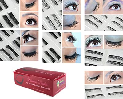 Best Cheap Deal for Bundle Monster 70 Pairs Fake / False Eyelashes - 7 Different Styles - 10 Pairs Each Variety Pack Set from Bundle Monster - Free 2 Day Shipping Available
