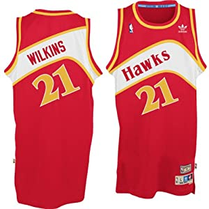 Atlanta Hawks #21 Dominique Wilkins NBA Soul Swingman Jersey, Red by adidas