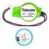 Akku-King Backup / CMOS Knopfzelle mit Stecker kompatibel zu Dell Inspiron 9100, XPS M1720, HP Pavilion dv4, HP Presario CQ40 - ersetzt GC02000KJ00 - Li-Ion 200mAh