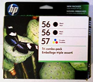 HP Ink 56/56/57 (CD944FN) Combo Triple Pack CD944FN#140