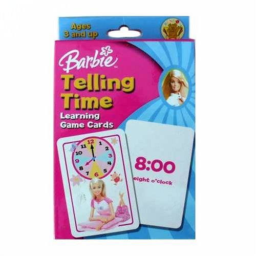 Barbie Telling Time Learning Game Cards