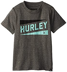 Hurley Little Boys' Stadium Lines Tee, Medium Grey Heather, 4