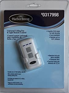 Harbor Breeze Universal Ceiling Fan Amp Light Remote Control