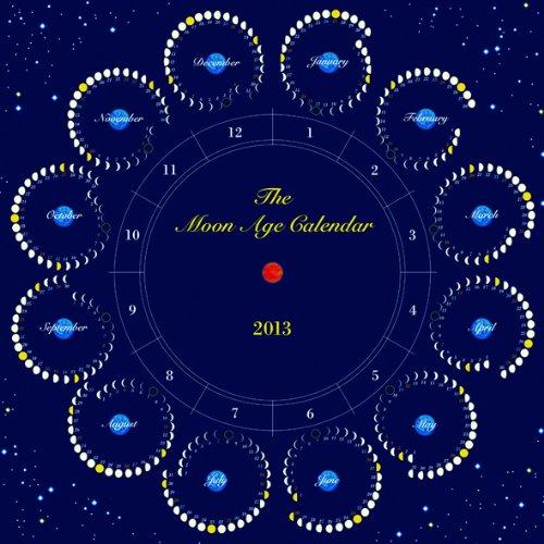 カレンダー 2014年月齢カレンダー : 月のカレンダー The Moon Age 2013 ...