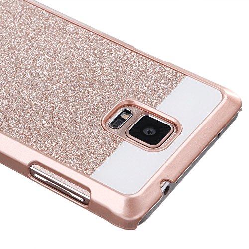 Note 4 Case, Imikoko™ Luxury Glitter Hybrid Protective Beauty Crystal Rhinestone Gold Sparkle PC Hard Diamond Case Cover For Samsung Galaxy Note 4 (Gold) (Note 4 Protective Phone Case compare prices)
