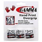 Gamma Hand Print Overgrip, Gray Camo