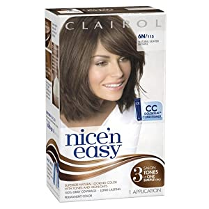 Clairol Nice 'n Easy 6N 115 Natural Lighter Brown 1 Kit(Pack of 3)