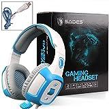 SADES SA906 7.1 Surround Stereo Gaming Headsets with Mic Vibration LED(White)