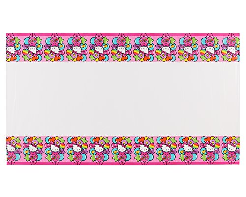 "American Greetings Hello Kitty Plastic Table Cover, 54 "" x 96 "", Party Supplies Novelty, Multicolor"