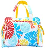 Ju-Ju-Be Be Prepared Messenger Diaper Bag with Insulated Bottle and 3 Zippered Pockets, Flower Power