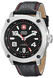 Wenger Men's 79373 Outback Stainless Steel Watch with Black Leather Band
