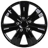 Unitec 75192 Premium- Radzierblenden 4er- Satz Sao Paulo, schwarz 40,6 cm (16 Zoll)