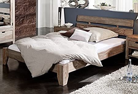200 x 200 cama de madera maciza muebles de madera de palisandro Nature Grey #213