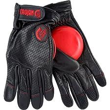 Trojan Leather Slide Glove S/M [Black] W/Venom Pucks