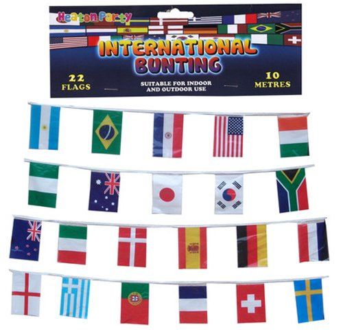 22 Multi Nation Country Flag of the World Olympic Bunting