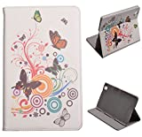 Voguecase Slim Fit Leather Case Cover for Samsung Galaxy Tab Pro 8.4 T320 (Autumn Flower) + Free Universal Screen-Stylus