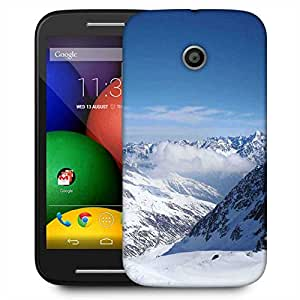 Snoogg Snow Area Designer Protective Phone Back Case Cover For Motorola E / Moto E