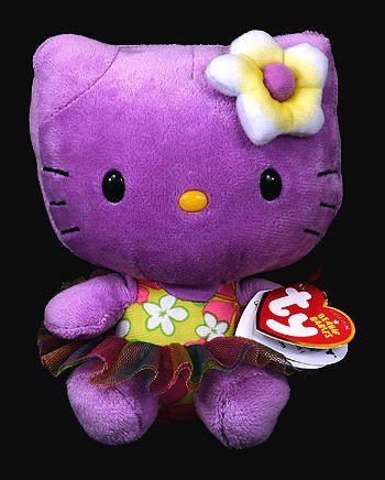 Ty Beanie Babies Hello Kitty Purple Plush