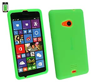 Emartbuy® Sim Silicon Skin Case Cover Green For Microsoft Lumia 535