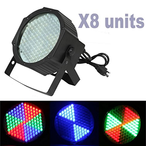 Yiscor Stage Lighting Led Par Light 127Leds Rgb Dmx512 For Home Garden Party Wedding Dj Disco Club Effect (Pack Of 8)