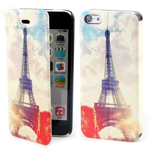 B73 Flip Leder Tasche Flip Case Cover Hülle Schale Für Apple iPhone 5C