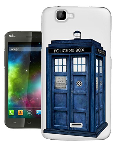 c0076 - Doctor Who Tardis Police Call Box Design Wiko Rainbow Fashion Trend Gel Rubber Silicone Case Caso / Cover copertura posteriore