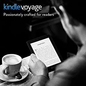 "Kindle Voyage, 6"" High-Resolution Display (300 ppi) with Adaptive Built-in Light, PagePress Sensors, Wi-Fi - Includes Special Offers by Amazon"