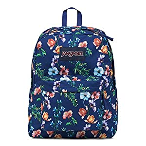 JanSport Womens Classic Mainstream Superbreak Backpack - Multi Navy Mountain Meadow