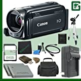 Canon VIXIA HF R500 Digital Camcorder (Black) + 64GB Green's Camera Bundle