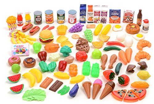 Kangaroo-Deluxe-Pretend-Food-120-Piece-Set