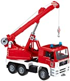 Bruder 02770 MAN Fire Engine Crane Truck with Light and Sound