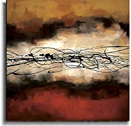Artistic Home Gallery 3636524S Harmony In Red And Ochre By Laurie Maitland Premium Stretched Oversize Canvas Wall Art