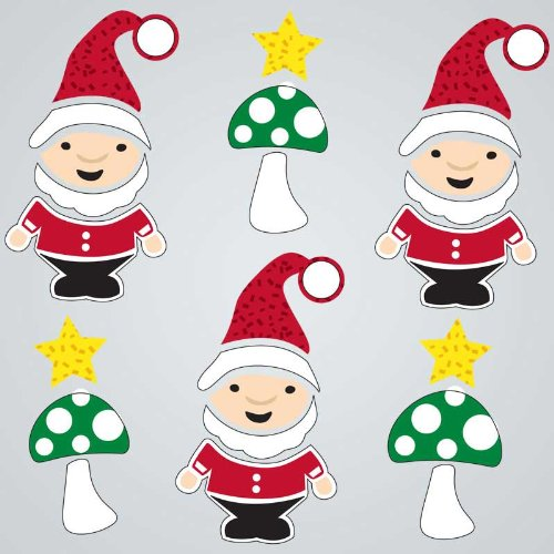 GelGems Christmas Gnomes Large Bag Gel Clings