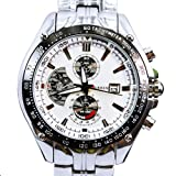Curren Silver White Quartz Movt Boys Mens Watch Stainless Steel Band Date Stylish Wrist Watch