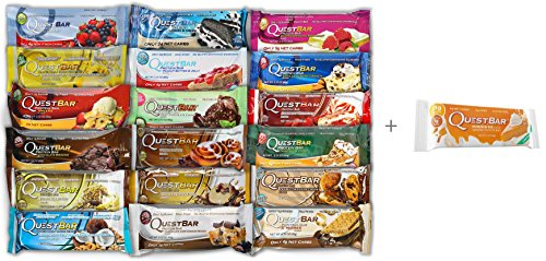 Quest Protein Bars 19 Bars One of Every Flavor Plus Pumpkin Pie Bar (Seasonal) (Quest Bar One compare prices)