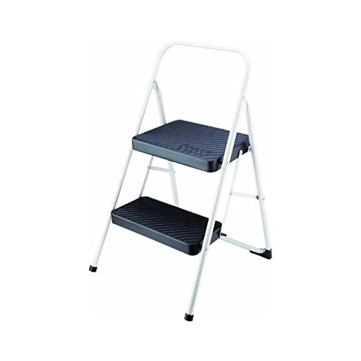 Cosco 11-135CLGG1 Folding Step Stool, 2-Step, Cool Gray