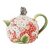 Fitz and Floyd 20-323 Hydrangea Teapot