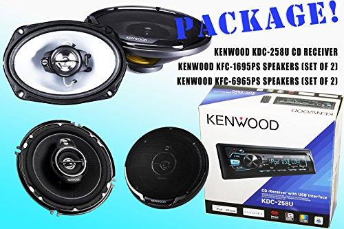 Package! Kenwood Kdc-258U Cd-Receiver + Kfc-1695Ps Speakers + Kfc-6965Ps Speakers