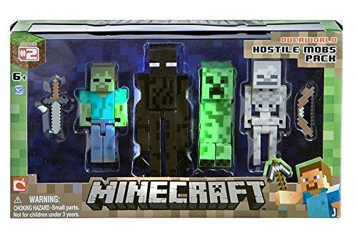 Minecraft Figure 4-Pack Hostile Mobs