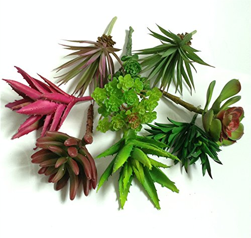 Lucky six DIY Decor artificial succulents plants,Artificial Succulent Plants Picks For Wedding,Party.
