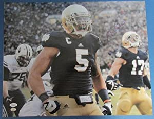 Manti Teo Notre Dame Fighting Irish Autographed Signed 16x20 Photo JSA W426088