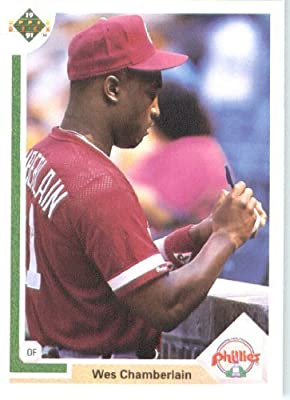 1991 Upper Deck # 626 Wes Chamberlain (RC - Rookie Card) Philadelphia Phillies - MLB Baseball Trading Card