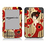 Diabloskinz Vinyl Adhesive Skin Decal Sticker for Amazon Kindle Keyboard - Poppy