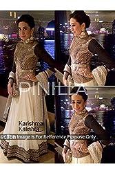 Designer BLACK & WHITE NET Bollywood Replica Lehenga Choli.