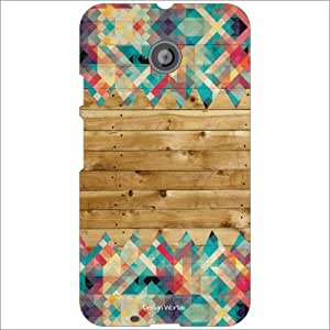 Design Worlds - Motorola Moto E (2nd gen) Designer Back Cover Case - Multic...
