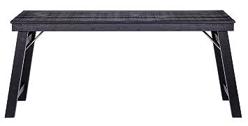 Bureau brut de sciage de métal fond noir, H 73 x L 174 x P 57 cm - PEGANE -