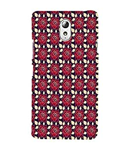 iFasho Animated Pattern black and white many lotus flower Back Case Cover for Lenovo Vibe P1M