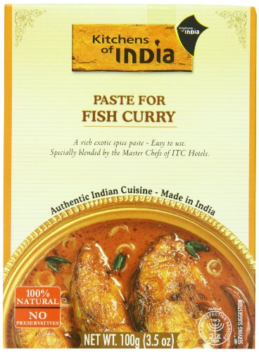 Kitchens Of India Curry Paste For Fish Curry, 3.5-Ounce Boxes (Pack of 6) (Indian Fish compare prices)