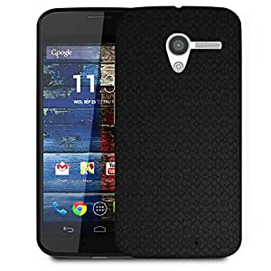 Snoogg Black Wall Pattern Design Designer Protective Phone Back Case Cover For Moto X / Motorola X